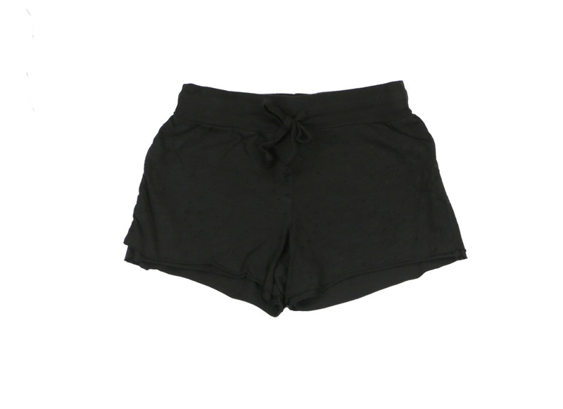 BLACK JERSEY COTTON DOUBLE LAYER RAW SHORT
