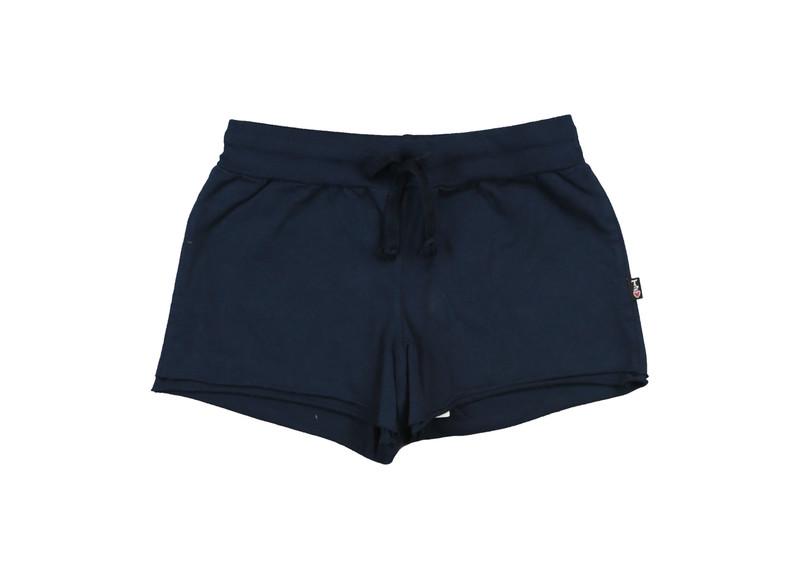 NAVY JERSEY COTTON DOUBLE LAYER RAW SHORT