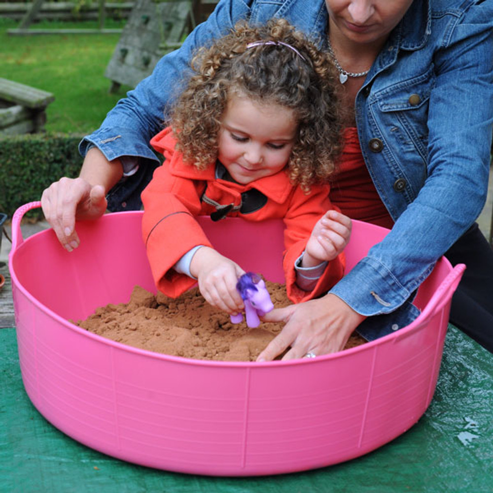 Large Shallow Tubtrugs make great sand pits.