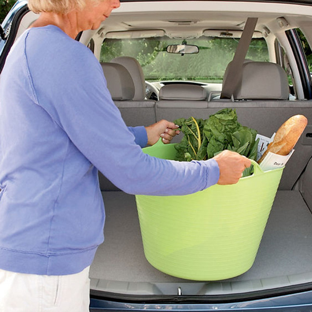 Large Tubtrugs can help you take large loads from the boot inside.
