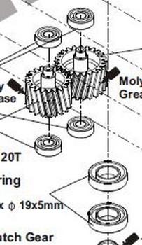 TREX 700XN Gearbox bearings