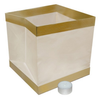 Floating Paper Lanterns with Trim - White (12 Count)