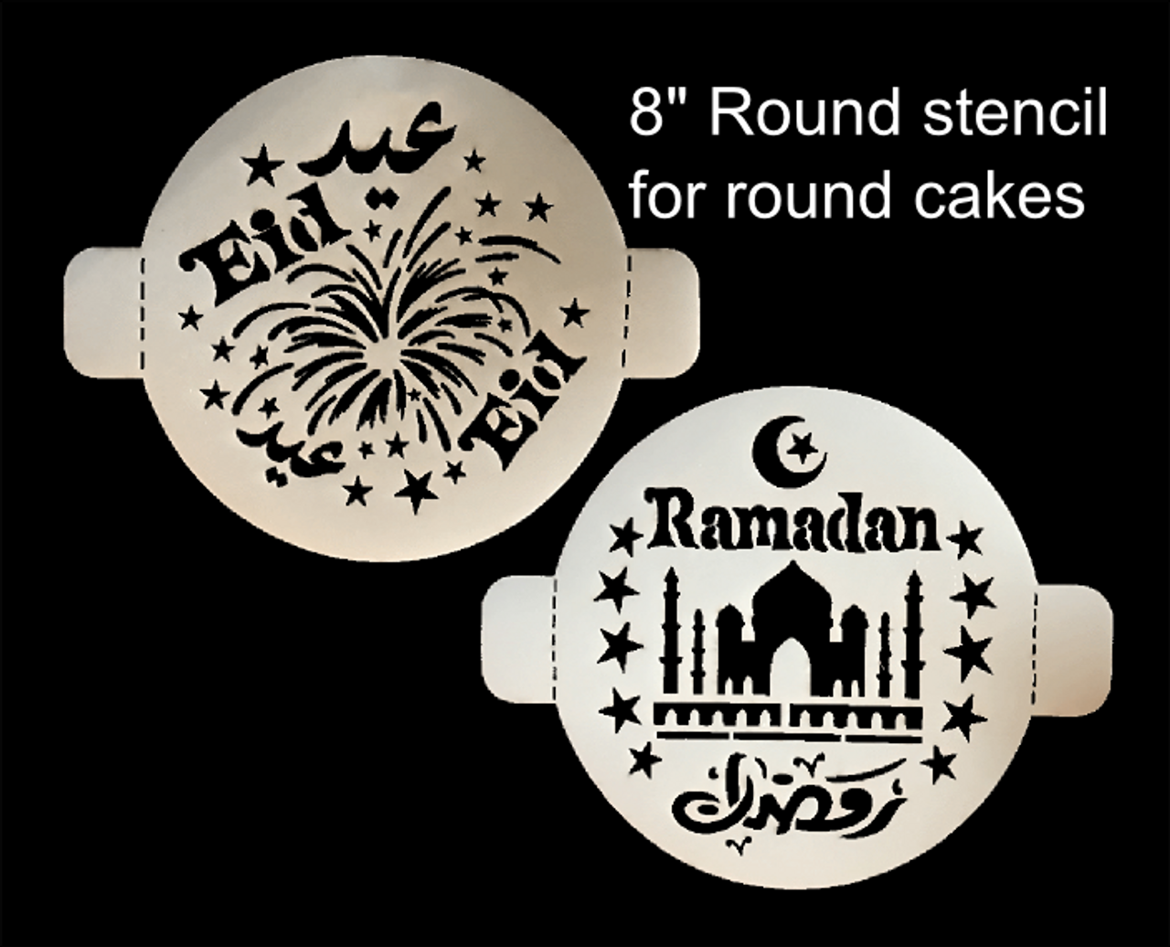 Round Stencil Set of 2 (1 Eid, & 1 Ramadan)
