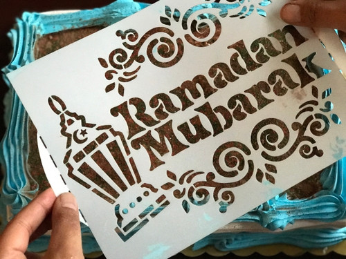 Ramadan Stencil Set of 2 (1 Arabic & 1 English)