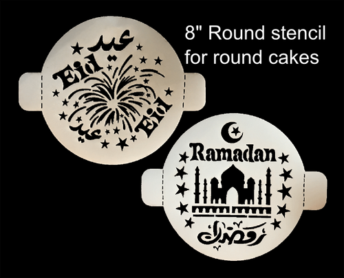 Round Stencil Set of 2 (1 Eid, & 1 Ramadan)