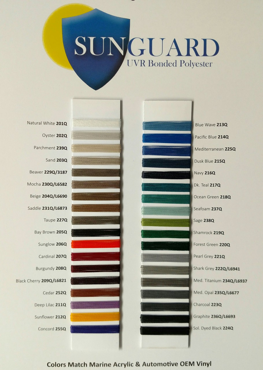 SUNGUARD Polyester Thread D92 Sample Card
