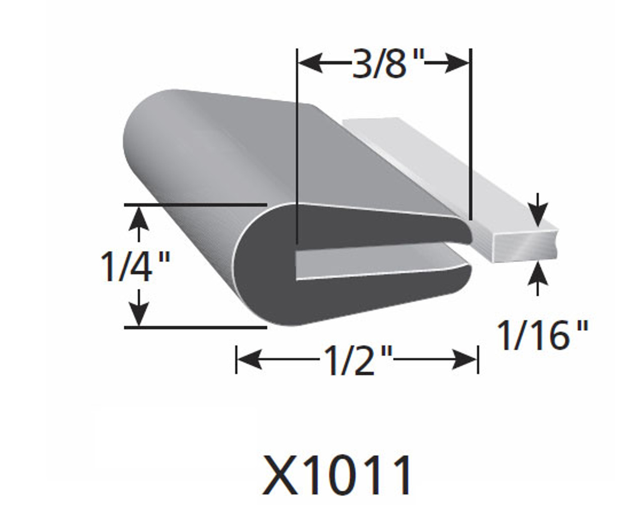 """1/2"""" Tall / Fits up to a 1/16"""" Edge Thickness with a Leg Length of 3/8"""""""