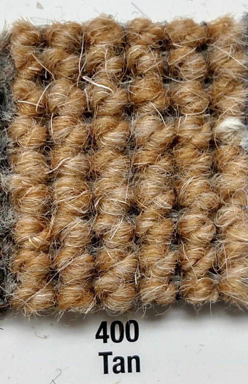 "Imported German Wool Square Weave Carpet 65"" - 400 Tan"