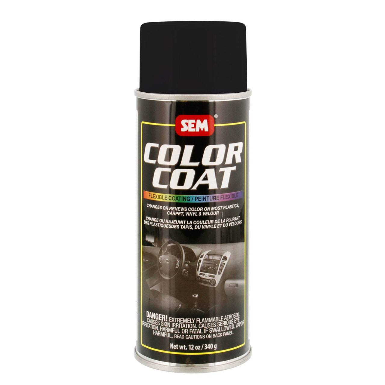 SEM Satin Black COLOR COAT Aerosol 12 oz.