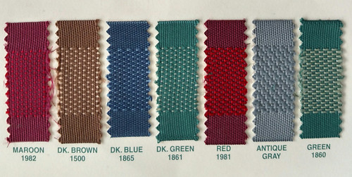 Colors Available / We are sorry, but #1860 Green is DISCONTINUED!
