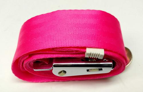 "Chrome Lift-Lever Hot Pink Lap/Seatbelt 74"""