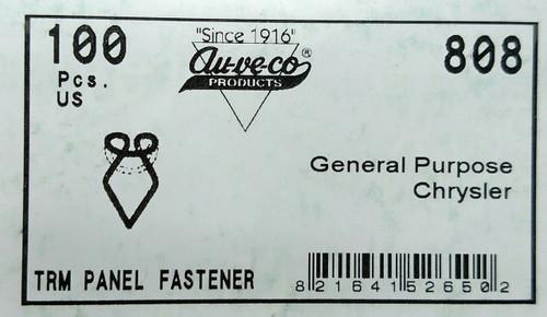 General Purpose Chrysler Trim Panel Fasteners 25, 50 or 100 per Pack