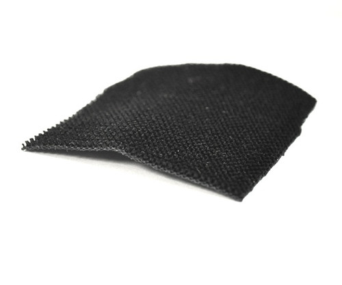 Black Mohair Lining Material with Rubberized Backing