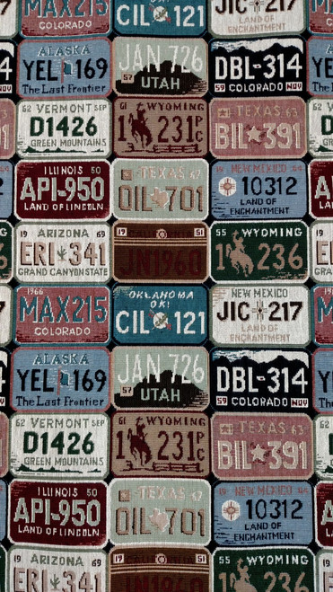 License Plate Tapestry 56""