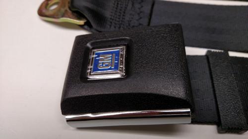 "Original GM Plastic Push Button Black Lap/Seatbelt 74"""