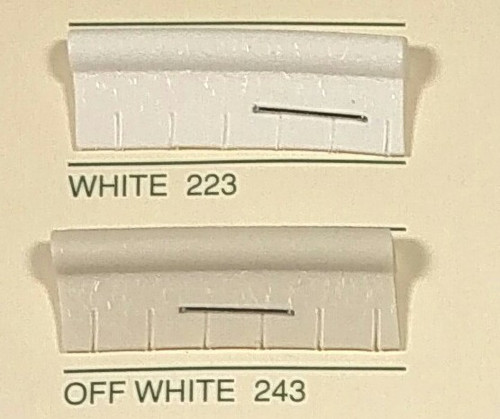 Embossed Snipped Seat Welt Off White