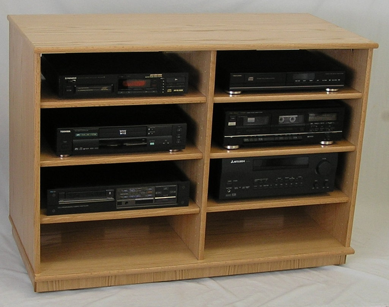 Wooden flat TV component stand 33 inches high