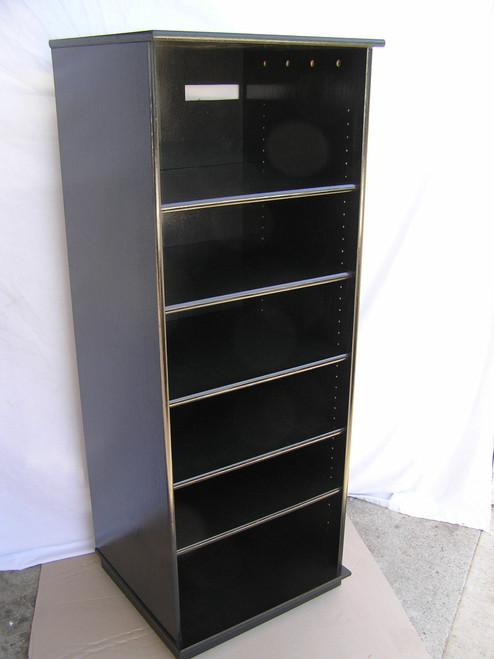 Genial ... Black Audio Cabinet With Glass Doors 73 Inches High. Http://www.