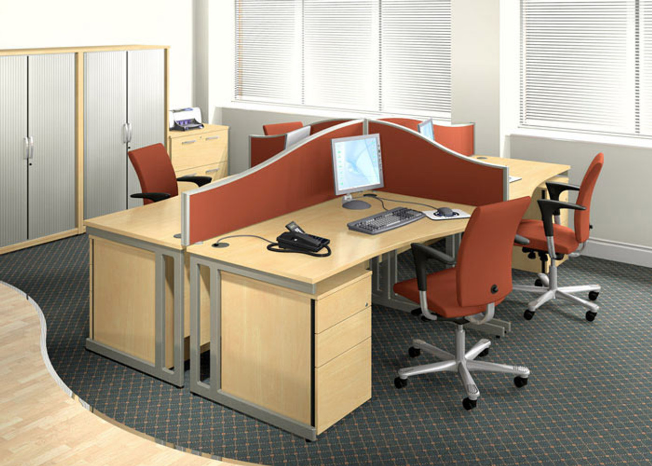 X-Range Compact Wave Desks and Workstations