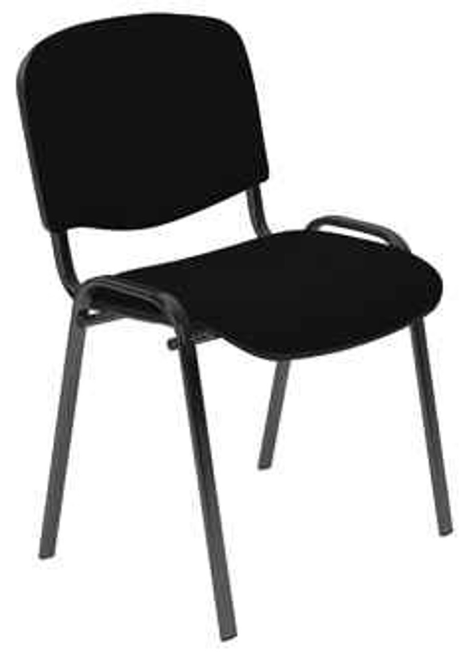 ISO Black Frame Stacking Chairs