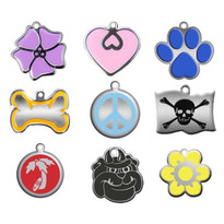"""Steel"" & Enamel Engraved Engraved Pet ID Tag"