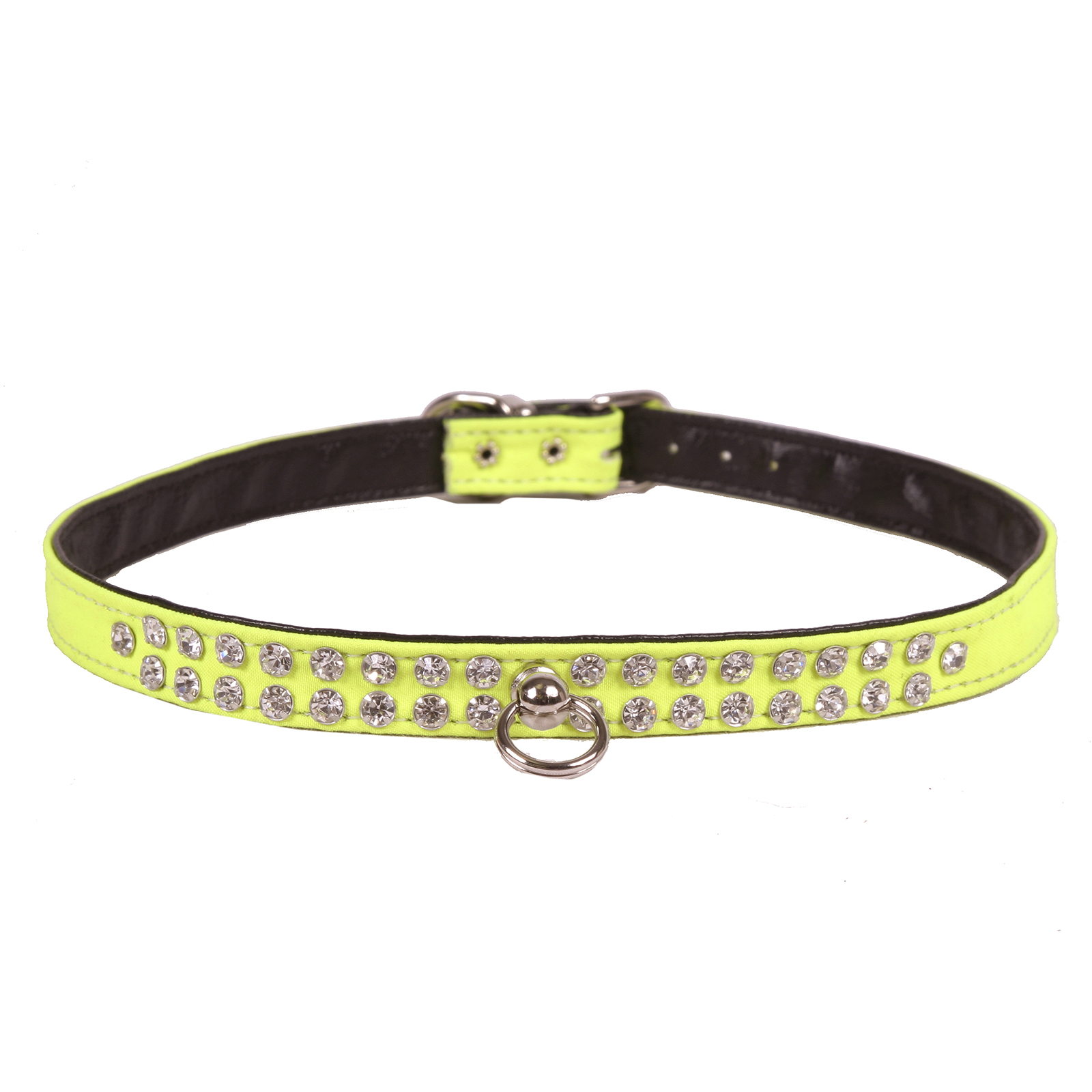 Hot Dog Neon 2-Row Crystal Dog Collar