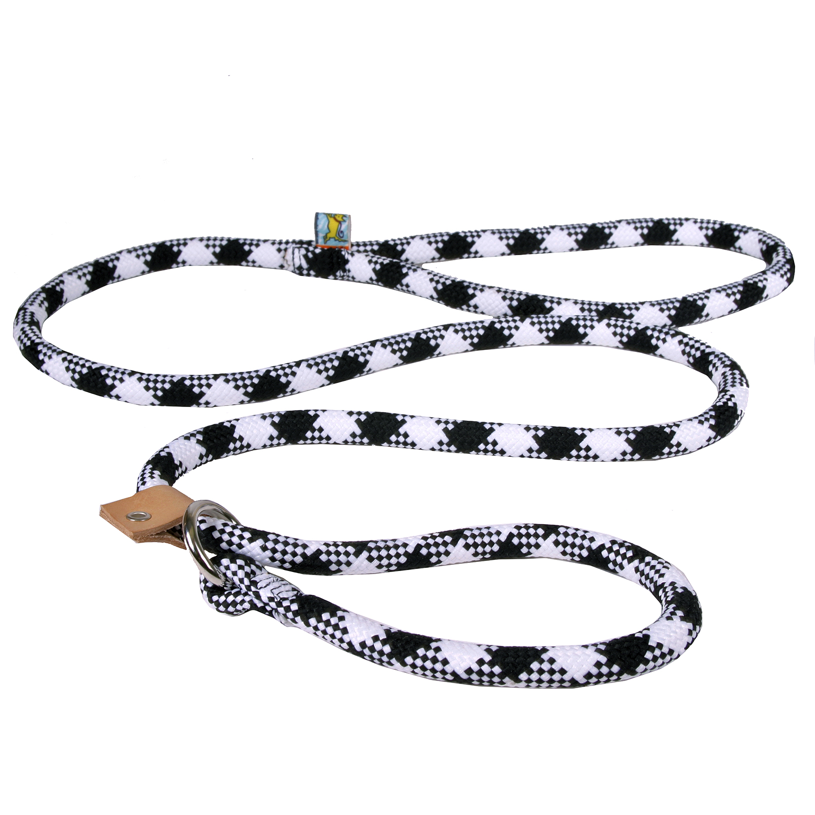 Yellow Dog Braided Rope Argyle Slip Leash For Dogs