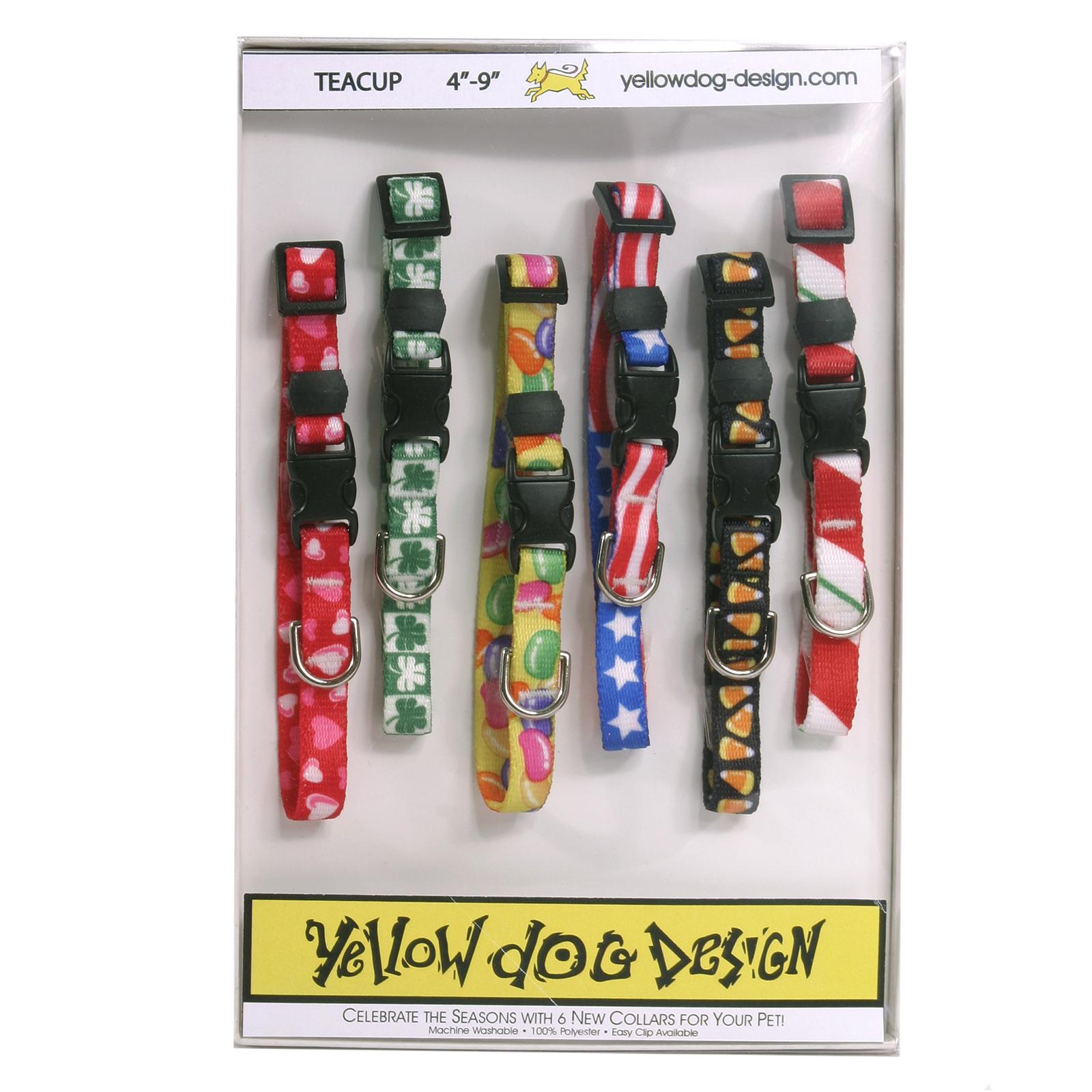 Yellow Dog Seasonal Dog Collar Calendar Pack with Tag-A-Long