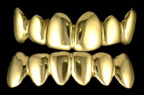 Style-12pack Gold Teeth Top and bottom grillz sets  A ChiGrillz Top & Bottom Combo grills Starter Packages comes with both Bottom Teeth Grills and Top Teeth Grills which makes your speech golden. ChiGrills Offers the best deals when you purchase your Top & Bottom grills together.