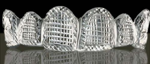 ChiGrillz Style-0508 6 cap white gold diamond cut grillz designs