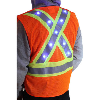 Majestic Class 2 LED X Back Reflective Vest