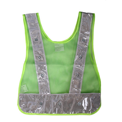 Class 1 LED Safety Vest - Plain Green