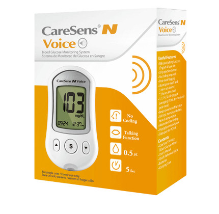 Caresens N Voice Blood Glucose Monitoring System