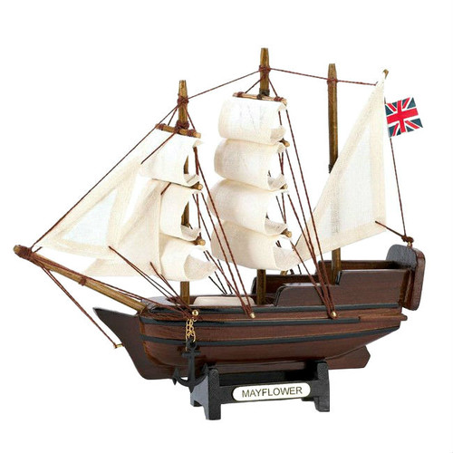 Miniature Wood Mayflower Ship Model