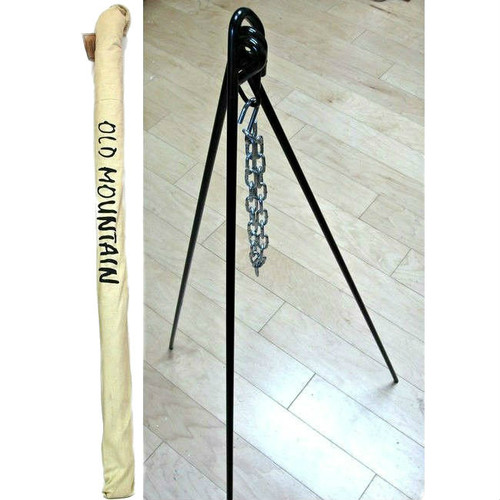 Old Mountain Cast Iron Cooking Tripod with Carry Bag