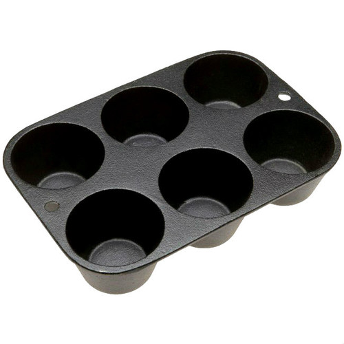 Old Mountain Cast Iron Pre-Seasoned Six Cup Muffin Pan
