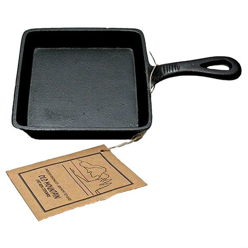 "Old Mountain Square 5"" Cast Iron Pre-Seasoned Skillet"