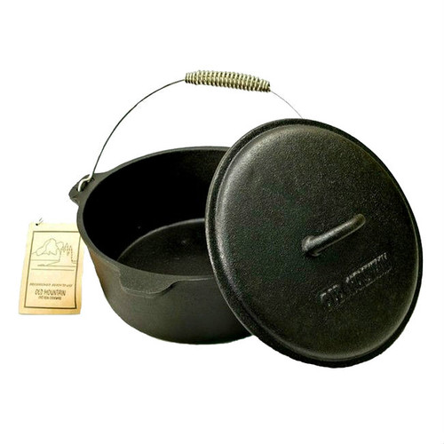 Old Mountain Cast Iron Pre-Seasoned 4 1/2 Qt Dutch Oven with Lid