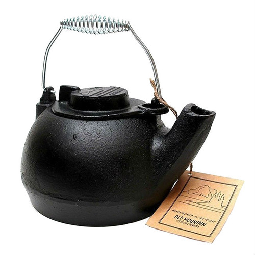 Old Mountain Cast Iron Two Quart Tea Kettle