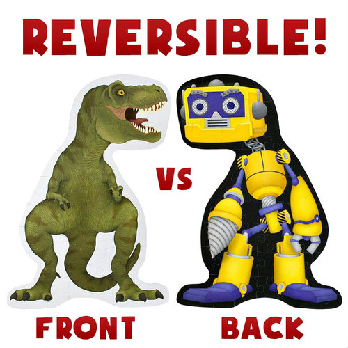 T-Rex vs Rad Robot 48 Piece 3' x 2' Double Sided Floor Puzzle Age 6+