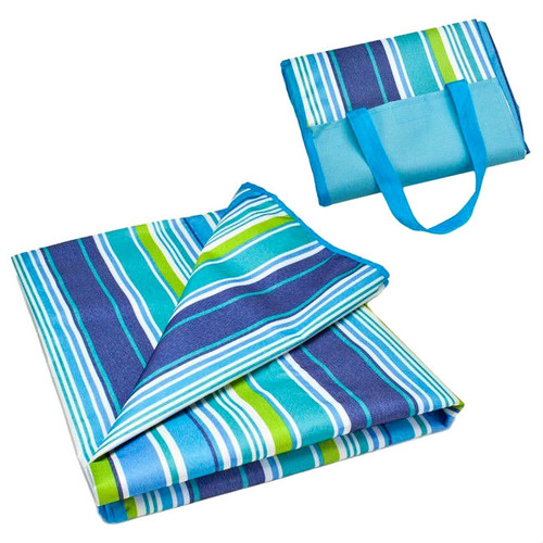 "Beachcomber Striped 2 in 1 Beach Bag and 79"" x 59"" Blanket"