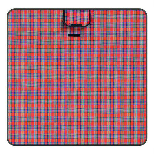 "Red Plaid All Purpose Medium 58"" x 58"" Camping Blanket"