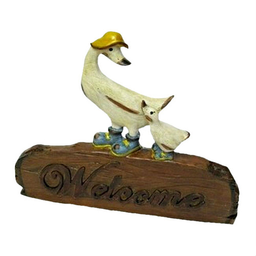 Mother Duck and Duckling Welcome Wall Sign