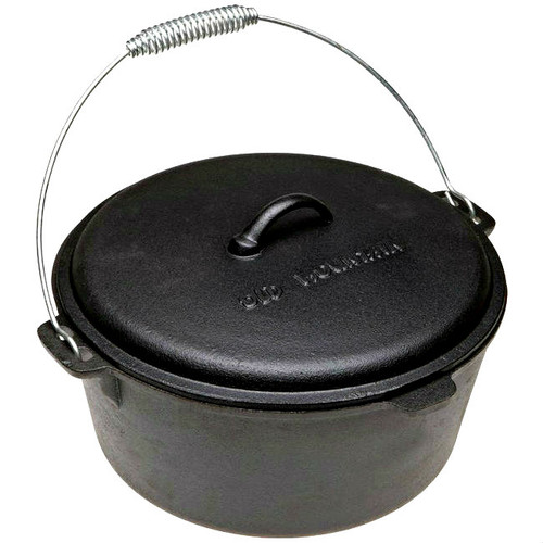 Old Mountain Cast Iron Pre-Seasoned 8 Qt Dutch Oven with Dome Lid