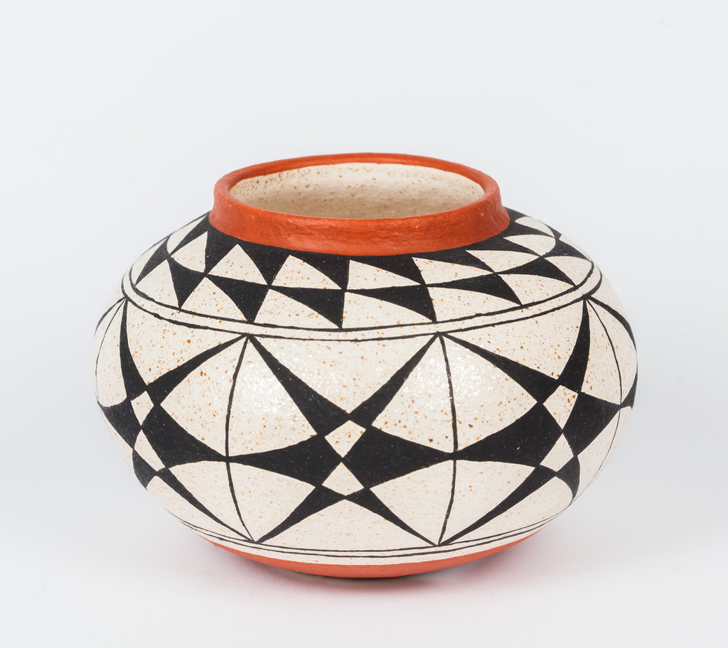Black on White Mica Clay bowl