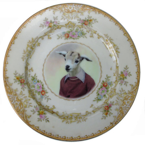 Billy Goat Portrait Plate