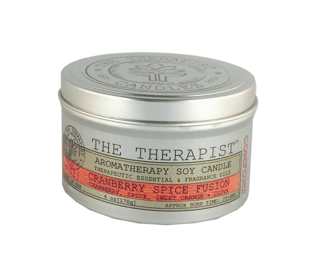 No. 02 Cranberry Spice Fusion Soy Candle - Travel Tin 6 oz