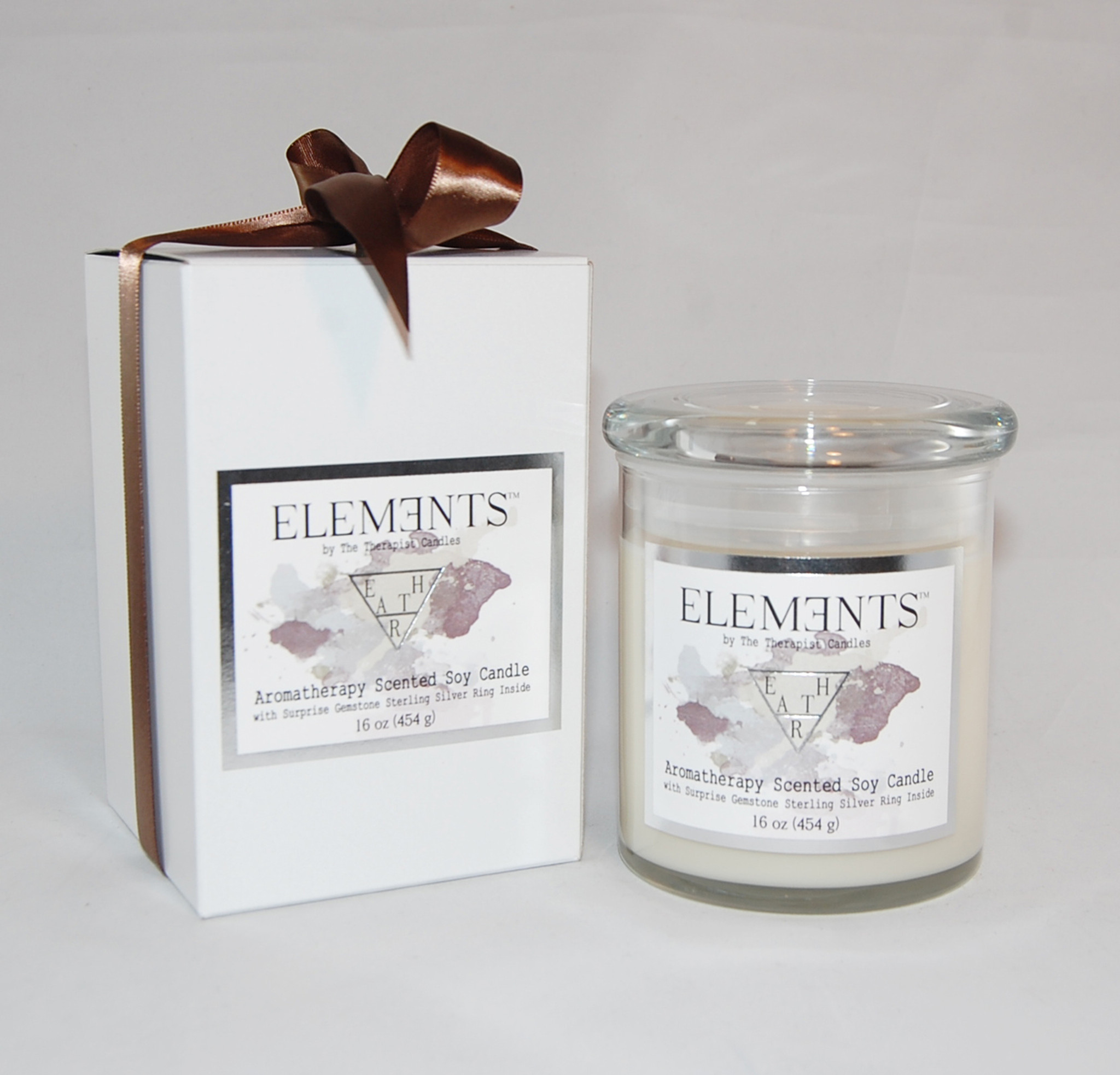 ELEMENTS RING CANDLE - AROMATHERAPY CANDLE WITH STERLING SILVER ...