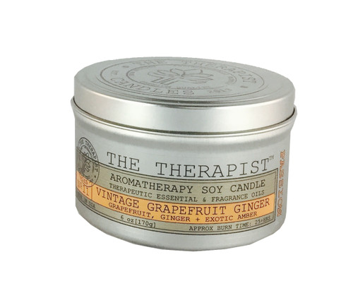No. 11 Vintage Grapefruit Ginger Soy Candle - Travel Tin 6 oz