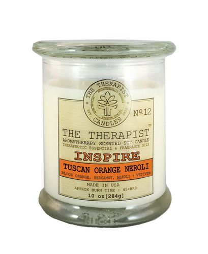 Tuscan Orange Neroli artisan soy candle Made with essential oils, premium fragrances, scented soy candle, best candle, best soy candle, best orange soy candle, best long lasting candle, best neroli candle,